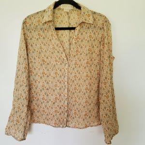Vintage Michael Kors MK button down shirt top